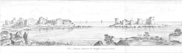 Корикос на гравюре французского востоковеда Виктора Ланглуа